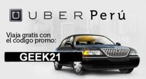 Códigos promocionales Uber Taxi Lima